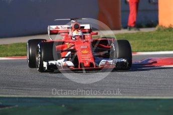 World © Octane Photographic Ltd. Formula 1 - Winter Test 2. Sebastian Vettel - Scuderia Ferrari SF70H. Circuit de Barcelona-Catalunya. Tuesday 7th March 2017. Digital Ref :1784CB1D0367