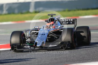 World © Octane Photographic Ltd. Formula 1 - Winter Test 2. Esteban Ocon - Sahara Force India VJM10. Circuit de Barcelona-Catalunya. Tuesday 7th March 2017. Digital Ref :1784CB1D0471