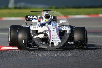 World © Octane Photographic Ltd. Formula 1 - Winter Test 2. Felipe Massa - Williams Martini Racing FW40. Circuit de Barcelona-Catalunya. Tuesday 7th March 2017. Digital Ref :1784CB1D0524