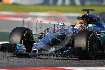 World © Octane Photographic Ltd. Formula 1 - Winter Test 2. Lewis Hamilton - Mercedes AMG Petronas F1 W08 EQ Energy+. Circuit de Barcelona-Catalunya. Tuesday 7th March 2017. Digital Ref :1784CB1D0620