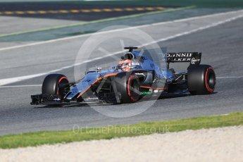 World © Octane Photographic Ltd. Formula 1 - Winter Test 2. Esteban Ocon - Sahara Force India VJM10. Circuit de Barcelona-Catalunya. Tuesday 7th March 2017. Digital Ref :1784CB1D0767