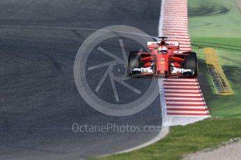 World © Octane Photographic Ltd. Formula 1 - Winter Test 2. Sebastian Vettel - Scuderia Ferrari SF70H. Circuit de Barcelona-Catalunya. Tuesday 7th March 2017. Digital Ref :1784CB1D0787