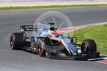 World © Octane Photographic Ltd. Formula 1 - Winter Test 2. Esteban Ocon - Sahara Force India VJM10. Circuit de Barcelona-Catalunya. Tuesday 7th March 2017. Digital Ref: 1784CB1D0883