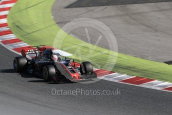 World © Octane Photographic Ltd. Formula 1 - Winter Test 2. Kevin Magnussen - Haas F1 Team VF-17. Circuit de Barcelona-Catalunya. Tuesday 7th March 2017. Digital Ref: 1784CB1D1013