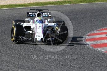 World © Octane Photographic Ltd. Formula 1 - Winter Test 2. Felipe Massa - Williams Martini Racing FW40. Circuit de Barcelona-Catalunya. Tuesday 7th March 2017. Digital Ref: 1784CB1D1043