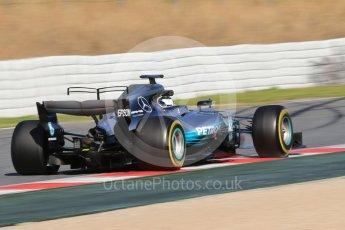 World © Octane Photographic Ltd. Formula 1 - Winter Test 2. Valtteri Bottas - Mercedes AMG Petronas F1 W08 EQ Energy+. Circuit de Barcelona-Catalunya. Tuesday 7th March 2017. Digital Ref: 1784CB1D1133