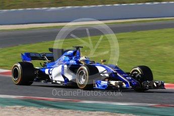 World © Octane Photographic Ltd. Formula 1 - Winter Test 2. Marcus Ericsson – Sauber F1 Team C36. Circuit de Barcelona-Catalunya. Tuesday 7th March 2017. Digital Ref: 1784CB1D1182