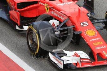 World © Octane Photographic Ltd. Formula 1 - Winter Test 2. Sebastian Vettel - Scuderia Ferrari SF70H. Circuit de Barcelona-Catalunya. Tuesday 7th March 2017. Digital Ref :1784CB1D1350