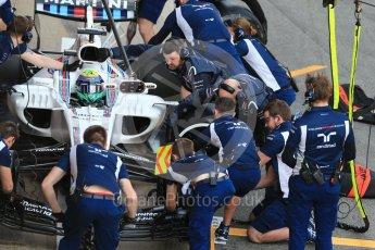 World © Octane Photographic Ltd. Formula 1 - Winter Test 2. Felipe Massa - Williams Martini Racing FW40. Circuit de Barcelona-Catalunya. Tuesday 7th March 2017. Digital Ref :1784CB1D1375
