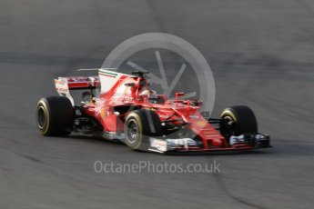 World © Octane Photographic Ltd. Formula 1 - Winter Test 2. Sebastian Vettel - Scuderia Ferrari SF70H. Circuit de Barcelona-Catalunya. Tuesday 7th March 2017. Digital Ref :1784CB1D1615