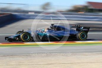 World © Octane Photographic Ltd. Formula 1 - Winter Test 2. Lewis Hamilton - Mercedes AMG Petronas F1 W08 EQ Energy+. Circuit de Barcelona-Catalunya. Tuesday 7th March 2017. Digital Ref :1784CB1D4822
