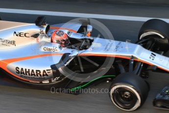 World © Octane Photographic Ltd. Formula 1 - Winter Test 2. Esteban Ocon - Sahara Force India VJM10. Circuit de Barcelona-Catalunya. Tuesday 7th March 2017. Digital Ref :1784CB1D4909