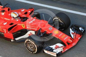 World © Octane Photographic Ltd. Formula 1 - Winter Test 2. Sebastian Vettel - Scuderia Ferrari SF70H. Circuit de Barcelona-Catalunya. Tuesday 7th March 2017. Digital Ref :1784CB1D4923