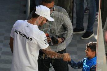 World © Octane Photographic Ltd. Formula 1 - Winter Test 2. Lewis Hamilton - Mercedes AMG Petronas F1 W08 EQ Energy+. Circuit de Barcelona-Catalunya. Tuesday 7th March 2017. Digital Ref :1784CB1D5064