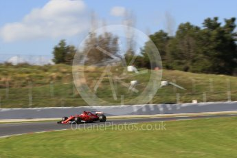 World © Octane Photographic Ltd. Formula 1 - Winter Test 2. Sebastian Vettel - Scuderia Ferrari SF70H. Circuit de Barcelona-Catalunya. Tuesday 7th March 2017. Digital Ref: 1784CB1D5177