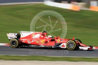 World © Octane Photographic Ltd. Formula 1 - Winter Test 2. Sebastian Vettel - Scuderia Ferrari SF70H. Circuit de Barcelona-Catalunya. Tuesday 7th March 2017. Digital Ref: 1784CB1D5180