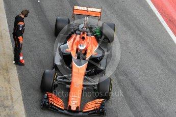 World © Octane Photographic Ltd. Formula 1 - Winter Test 2. Stoffel Vandoorne - McLaren Honda MCL32. Circuit de Barcelona-Catalunya. Tuesday 7th March 2017. Digital Ref :1784CB1D5427
