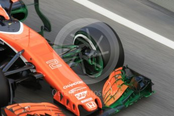 World © Octane Photographic Ltd. Formula 1 - Winter Test 2. Stoffel Vandoorne - McLaren Honda MCL32. Circuit de Barcelona-Catalunya. Tuesday 7th March 2017. Digital Ref :1784CB1D5523