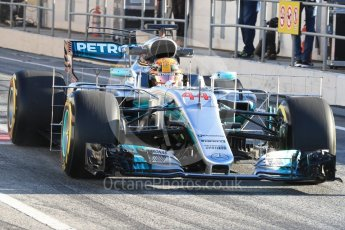 World © Octane Photographic Ltd. Formula 1 - Winter Test 2. Lewis Hamilton - Mercedes AMG Petronas F1 W08 EQ Energy+. Circuit de Barcelona-Catalunya. Tuesday 7th March 2017. Digital Ref :1784LB1D2435
