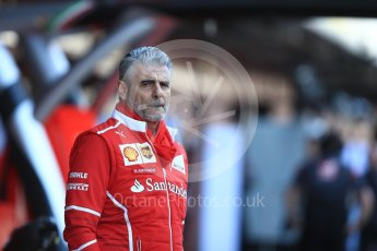 World © Octane Photographic Ltd. Formula 1 - Winter Test 2. Maurizio Arrivabene - Scuderia Ferrari Team Principal. Circuit de Barcelona-Catalunya. Tuesday 7th March 2017. Digital Ref :1784LB1D2551