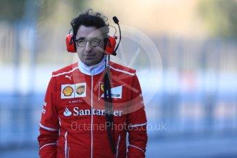 World © Octane Photographic Ltd. Formula 1 - Winter Test 2. Mattia Binotto - Scuderia Ferrari Chief Technical Officer. Circuit de Barcelona-Catalunya. Tuesday 7th March 2017. Digital Ref :1784LB1D2564