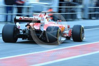 World © Octane Photographic Ltd. Formula 1 - Winter Test 2. Sebastian Vettel - Scuderia Ferrari SF70H. Circuit de Barcelona-Catalunya. Tuesday 7th March 2017. Digital Ref :1784LB1D2640