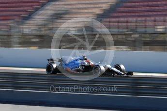 World © Octane Photographic Ltd. Formula 1 - Winter Test 2. Esteban Ocon - Sahara Force India VJM10. Circuit de Barcelona-Catalunya. Tuesday 7th March 2017. Digital Ref :1784LB1D2959