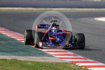 World © Octane Photographic Ltd. Formula 1 - Winter Test 2. Daniil Kvyat - Scuderia Toro Rosso STR12. Circuit de Barcelona-Catalunya. Tuesday 7th March 2017. Digital Ref :1784LB1D3131