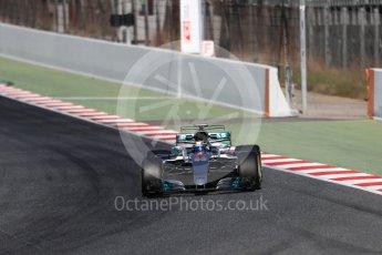 World © Octane Photographic Ltd. Formula 1 - Winter Test 2. Valtteri Bottas - Mercedes AMG Petronas F1 W08 EQ Energy+. Circuit de Barcelona-Catalunya. Tuesday 7th March 2017. Digital Ref: 1784LB1D3552
