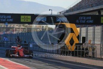 World © Octane Photographic Ltd. Formula 1 - Winter Test 2. Sebastian Vettel - Scuderia Ferrari SF70H. Circuit de Barcelona-Catalunya. Tuesday 7th March 2017. Digital Ref :1784LB5D9191