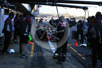 World © Octane Photographic Ltd. Formula 1 - Winter Test 2. Kevin Magnussen - Haas F1 Team VF-17. Circuit de Barcelona-Catalunya. Tuesday 7th March 2017. Digital Ref :1784LB5D9335