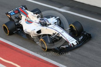 World © Octane Photographic Ltd. Formula 1 - Winter Test 1. Lance Stroll - Williams Martini Racing FW40. Circuit de Barcelona-Catalunya. Wednesday 1st March 2017. Digital Ref : 1782CB1D4264