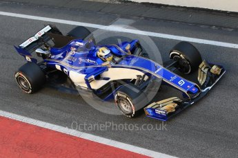 World © Octane Photographic Ltd. Formula 1 - Winter Test 1. Marcus Ericsson – Sauber F1 Team C36. Circuit de Barcelona-Catalunya. Wednesday 1st March 2017. Digital Ref : 1782CB1D4310