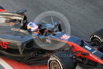 World © Octane Photographic Ltd. Formula 1 - Winter Test 1. Romain Grosjean - Haas F1 Team VF-17. Circuit de Barcelona-Catalunya. Wednesday 1st March 2017. Digital Ref : 1782CB1D4354