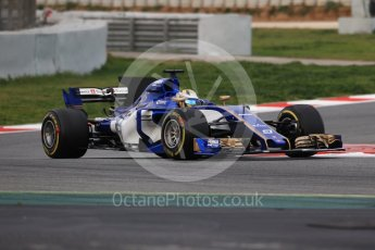 World © Octane Photographic Ltd. Formula 1 - Winter Test 1. Marcus Ericsson – Sauber F1 Team C36. Circuit de Barcelona-Catalunya. Wednesday 1st March 2017. Digital Ref :1782CB1D7856
