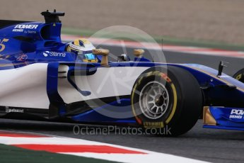 World © Octane Photographic Ltd. Formula 1 - Winter Test 1. Marcus Ericsson – Sauber F1 Team C36. Circuit de Barcelona-Catalunya. Wednesday 1st March 2017. Digital Ref :1782CB1D7861