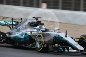 World © Octane Photographic Ltd. Formula 1 - Winter Test 1. Valtteri Bottas - Mercedes AMG Petronas F1 W08 EQ Energy+. Circuit de Barcelona-Catalunya. Wednesday 1st March 2017. Digital Ref :1782CB1D7975