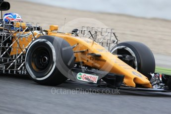 World © Octane Photographic Ltd. Formula 1 - Winter Test 1. Jolyon Palmer - Renault Sport F1 Team R.S.17. Circuit de Barcelona-Catalunya. Wednesday 1st March 2017. Digital Ref :1782CB1D8050