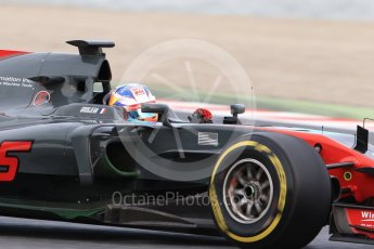 World © Octane Photographic Ltd. Formula 1 - Winter Test 1. Romain Grosjean - Haas F1 Team VF-17. Circuit de Barcelona-Catalunya. Wednesday 1st March 2017. Digital Ref :1782CB1D8114