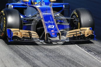 World © Octane Photographic Ltd. Formula 1 - Winter Test 1. Marcus Ericsson – Sauber F1 Team C36. Circuit de Barcelona-Catalunya. Wednesday 1st March 2017. Digital Ref : 1782CB1D8278