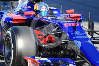 World © Octane Photographic Ltd. Formula 1 - Winter Test 1. Carlos Sainz - Scuderia Toro Rosso STR12. Circuit de Barcelona-Catalunya. Wednesday 1st March 2017. Digital Ref :1782CB1D8398