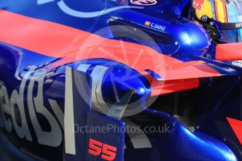 World © Octane Photographic Ltd. Formula 1 - Winter Test 1. Carlos Sainz - Scuderia Toro Rosso STR12. Circuit de Barcelona-Catalunya. Wednesday 1st March 2017. Digital Ref :1782CB1D8431