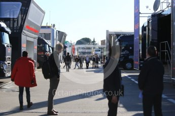 World © Octane Photographic Ltd. Formula 1 - Winter Test 1. The paddock at Circuit de Barcelona-Catalunya. Wednesday 1st March 2017. Digital Ref :1782CB1D8587