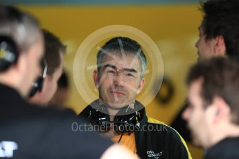 World © Octane Photographic Ltd. Formula 1 - Winter Test 1. Nick Chester – Chassis Technical Director of Renault Sport F1 Team. Circuit de Barcelona-Catalunya. Wednesday 1st March 2017. Digital Ref : 1782LB1D0027