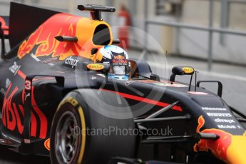 World © Octane Photographic Ltd. Formula 1 - Winter Test 1. Daniel Ricciardo - Red Bull Racing RB13. Circuit de Barcelona-Catalunya. Wednesday 1st March 2017. Digital Ref : 1782LB1D0077