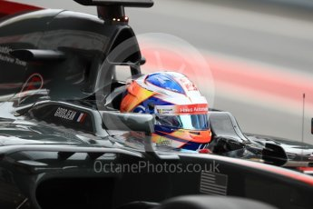 World © Octane Photographic Ltd. Formula 1 - Winter Test 1. Romain Grosjean - Haas F1 Team VF-17. Circuit de Barcelona-Catalunya. Wednesday 1st March 2017. Digital Ref : 1782LB1D0119
