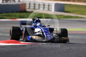 World © Octane Photographic Ltd. Formula 1 - Winter Test 1. Marcus Ericsson – Sauber F1 Team C36. Circuit de Barcelona-Catalunya. Wednesday 1st March 2017. Digital Ref :1782LB1D0210