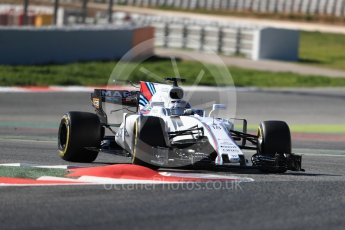 World © Octane Photographic Ltd. Formula 1 - Winter Test 1. Lance Stroll - Williams Martini Racing FW40. Circuit de Barcelona-Catalunya. Wednesday 1st March 2017. Digital Ref :1782LB1D0485
