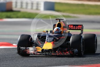 World © Octane Photographic Ltd. Formula 1 - Winter Test 1. Daniel Ricciardo - Red Bull Racing RB13. Circuit de Barcelona-Catalunya. Wednesday 1st March 2017. Digital Ref :1782LB1D0555