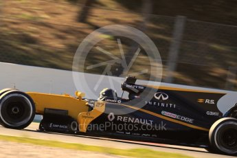World © Octane Photographic Ltd. Formula 1 - Winter Test 1. Nico Hulkenberg - Renault Sport F1 Team R.S.17. Circuit de Barcelona-Catalunya. Wednesday 1st March 2017. Digital Ref :
